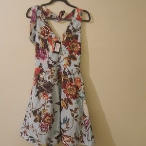 Ted Baker floral dress 2 halter neck